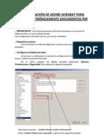 Configuracion Adobe Acrobat Para Firmar Documentos PDF Electronicamente