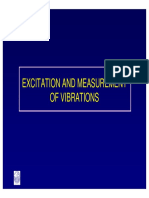 Excitation and Measurement of Vibrations