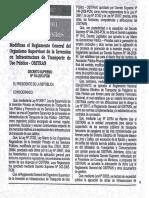 DS 114-2013-PCM Modifican El Reglamento General Del OSITRAN