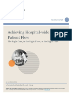 Achieving Hospital Flow