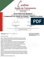 Certificado - ComExito - Fundamentos em Gestão de Projetos - PMBoK® 4a edição.