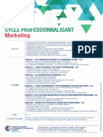 Fiches CEFOR Cycle Professionnalisant Marketing