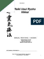 Manual Reiki Usui Ryoho Hikkei Nivel 1