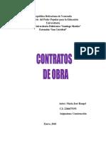 Contratos de Obra-Ensayo