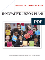 Innovative Lesson Plan!