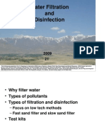 Water Filtration and Disinfection 2009