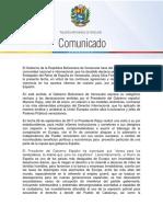 Comunicat del govern de Veneçuela