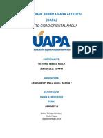 Reporte III Lengua Española en El Nivel Basico Victoria