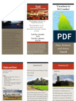 tri-fold travel brochure  red and gray design