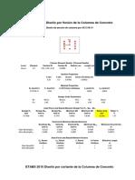 COL. Del Eje 1-1 Intersectado Con El Eje C-C - POR FLEXION