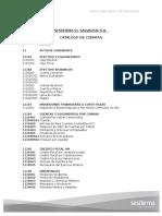 Sesdema El Salvador - Catalogo de Cuentas