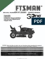 Craftsman Tractor 917252561 Manual