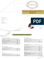 Annual Business Plan 10 & 11 Summary Sheet