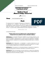 Buenas Prácticas de Fabricación, Almacenamiento y Transporte de Alimentos Para Consumo Humano Sg45796