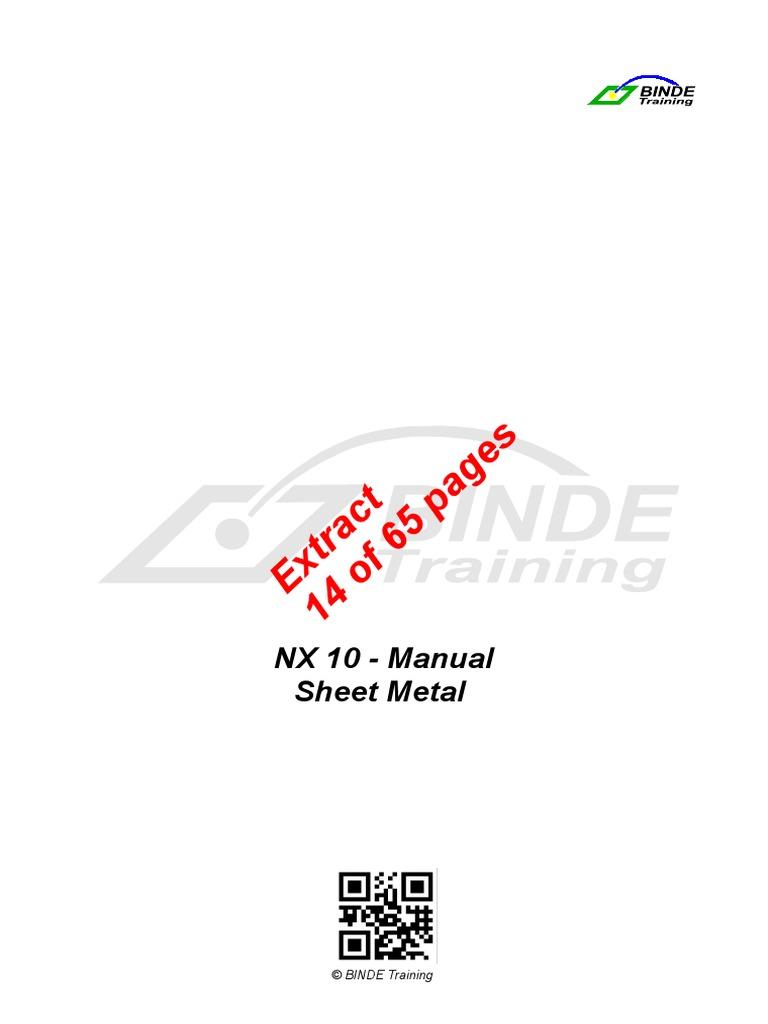 Extractsheetmetalnx10pdf sheet metal nature baditri Image collections