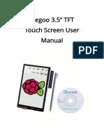 Elegoo 3.5 Inch Touch Screen User Manual(Arduino-English)V1.00.2017.08.26