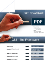 GST – Time of Supply