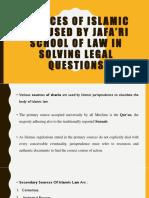 Sources of Islamic Law Used by Jafa'Ri School