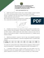 LISTA DE EXERCICIOS Fisico-Quimica 02
