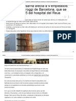 Otro Brote de Sarna Afecta a 4 Empleados Del Hospital Broggi de Barcelona, Que Se Suman a Los 35 Del Hospital Del Reus