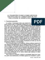 La Tradición Clásica Como Apoyo Didáctico Para El Comentario de Textos Latinos_el Ejemplo de Catulo
