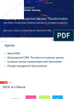 Nice Roadmap to Customer Service Transformation Tsw Template 25aug17 171023170808