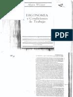 Wisner - Ergonomia y Conducta Del Trabajo - Intro, Cap4 Primera Parte, Cap2 Tercera Parte