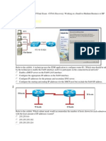 DsmbISP Final Exam - CCNA Dicovery Working at a Small-To-Medium Business or ISP (Version 4.1)