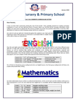 y3   4 parents curriculm letter january 2018