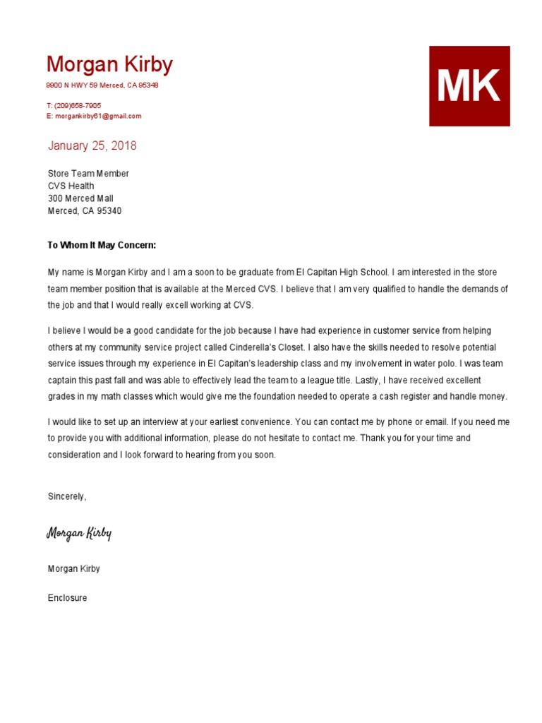 senior portfolio cover letter