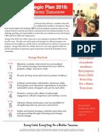 Strategic Plan 2018 for a Better Tomorrow Fact Sheet