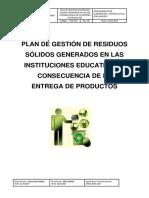 Plan de Recojo de Desperdicios o Residuos Sólidos HUANUCO 4 J Y M ALIMENTOS