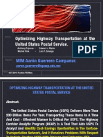 Optimizing Highway Transportation at the United States Postal Service Anthony Pajunas