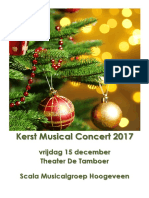 Programma Kerst Musical Concert 2017