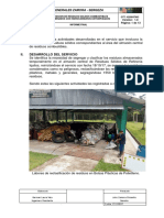 Informe Servicio Disposicion de Residuos Solidos
