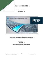 Autocad Civil 3D - CLASE 1