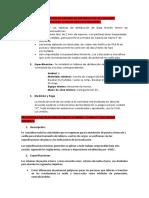 Especificaciones Escenario 10 de Agosto