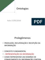 Ontologias Aula 17-05-2016