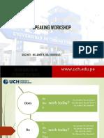 Speaking Workshop - Ppt Mg. Diaz