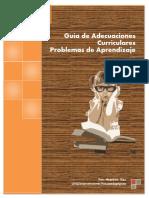 Adecuaciones Curriculares Para Problemas de Aprendizaje