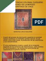 Estudio Del Poncho Colonial Cuzqueño Del Museo De La Merced