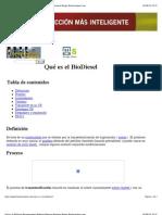 Qué es el BioDiesel Biocarburantes Biodiesel Biomasa Bioetanol Biogas Biodieselspain