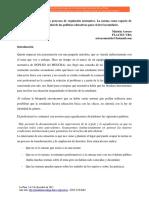 ARROYO MARIELA, La Performatividad de Los Procesos de Regulacion Normativa