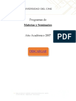 Placa de Descargas - Programa Materias de Cine