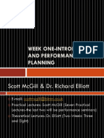 Week One-Introduction and Performance Planning