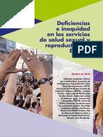 Deficiencias e Inequidad en Los Servicios de La Salud Sexual y Reproductiva en España