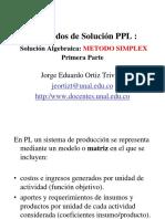 03 SolucionAlgebraicaMetodo SIMPLEX ProgramacionLineal JorgeOrtiz