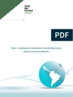 Fundamentos conceptuales y metodológicos para elaborar proyectos