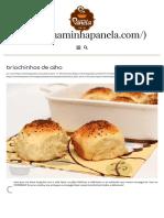 Briochinhos de Alho - Naminhapanela