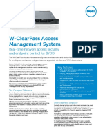 W Series ClearPass Access Management System